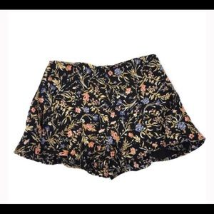 Kimchi Blue Black Floral Shorts Urban Outfitters